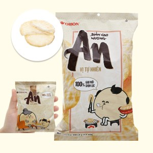 Bánh gạo nướng vị tự nhiên Orion An gói 151.2g