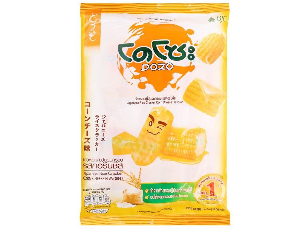 Bánh gạo vị phô mai ngô Dozo gói 56g 2