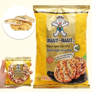 Bánh gạo rong biển Want Want gói 118g