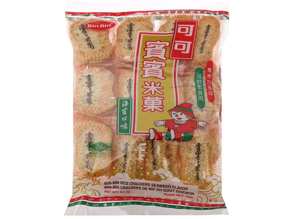 Bánh gạo vị rong biển Bin Bin gói 150g 2