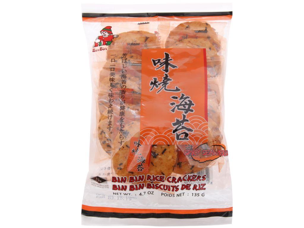 Bánh gạo vị rong biển Bin Bin gói 135g 2