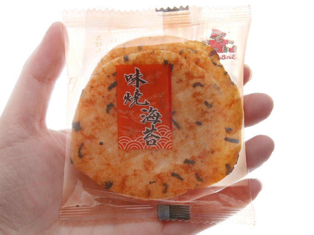 Bánh gạo vị rong biển Bin Bin gói 135g 5