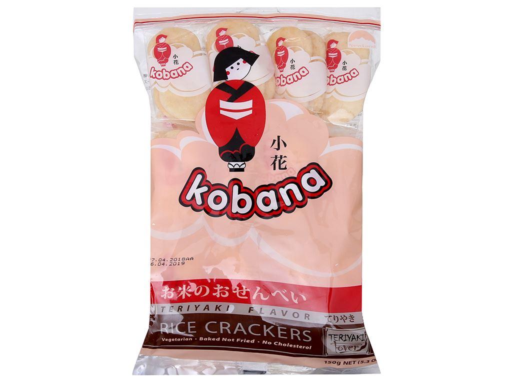 Bánh gạo ngọt vị Teriyaki Kobana gói 150g 2