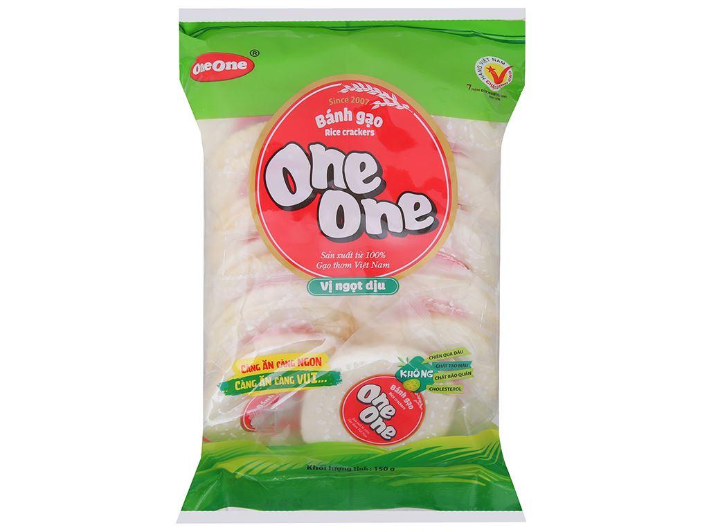 Bánh gạo vị ngọt dịu One One gói 150g 2
