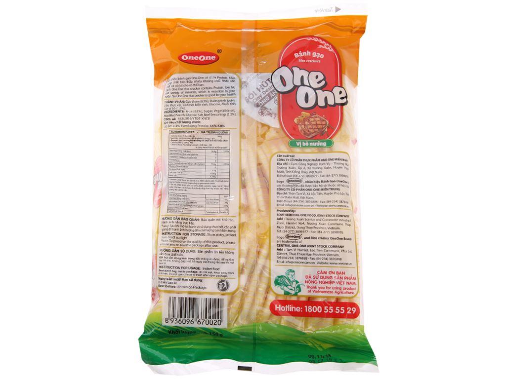 Bánh gạo vị bò nướng One One gói 150g 3