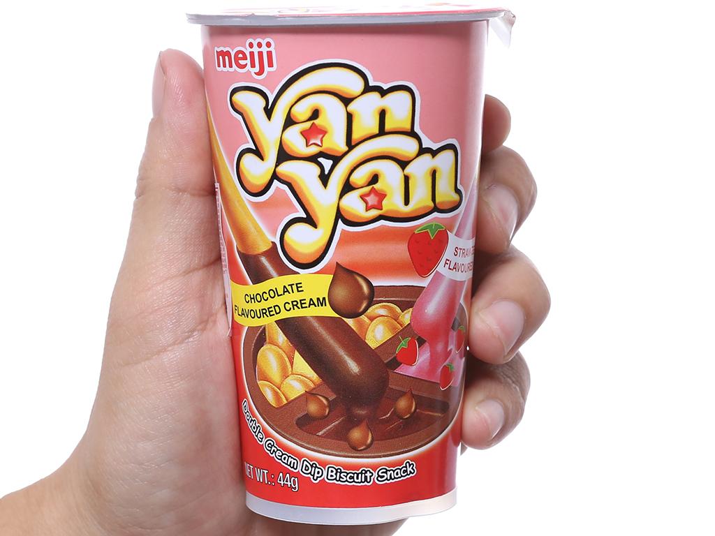 Bánh que chấm kem hương dâu và sô cô la Yan Yan Meiji ly 44g 4