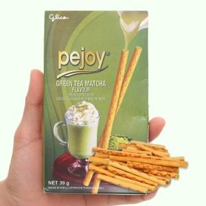 Bánh que Glico Pejoy trà xanh matcha hộp 39g