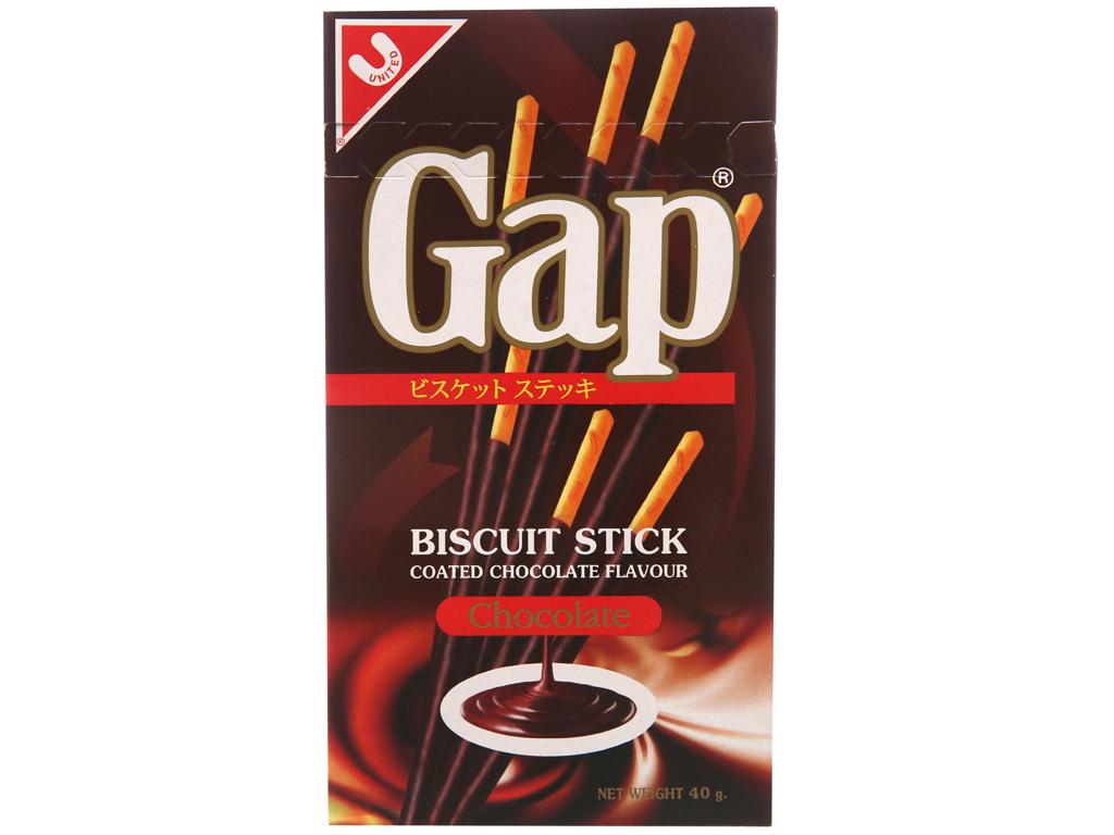 Bánh que phủ kem hương sô cô la Gap hộp 40g 1