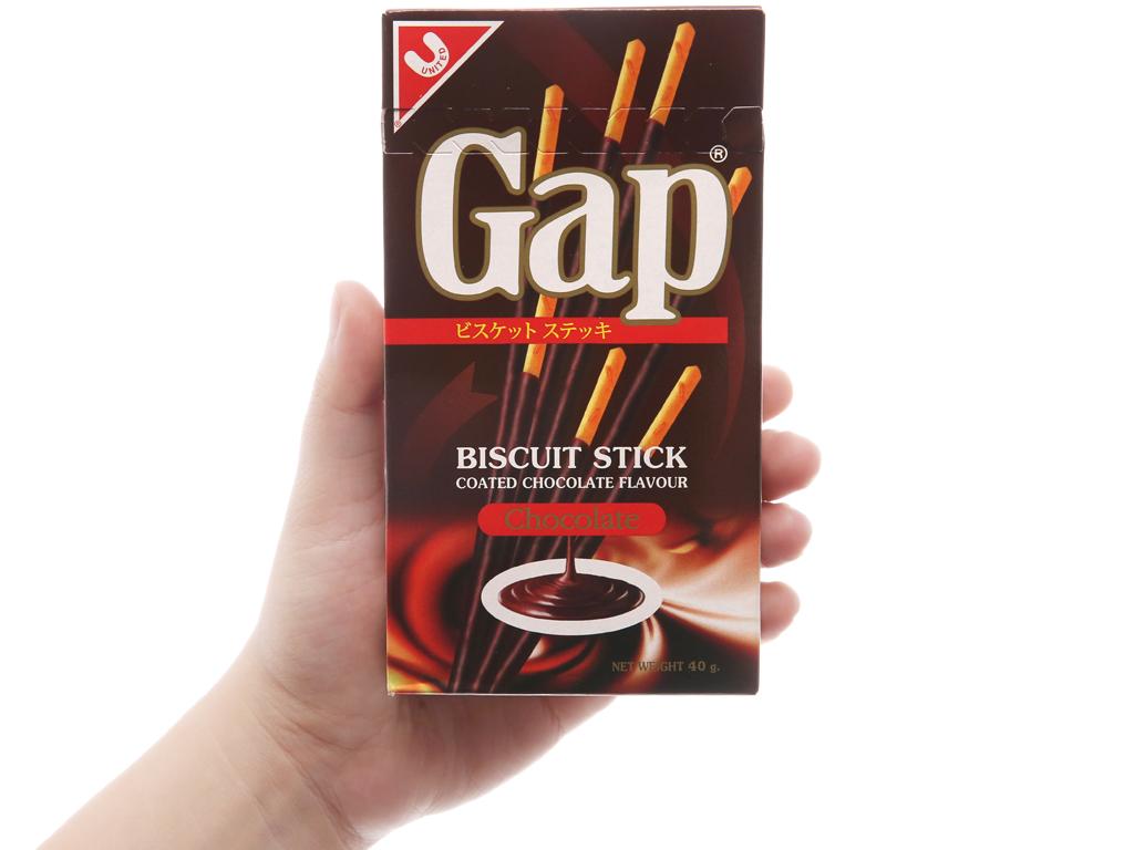 Bánh que phủ kem hương sô cô la Gap hộp 40g 3