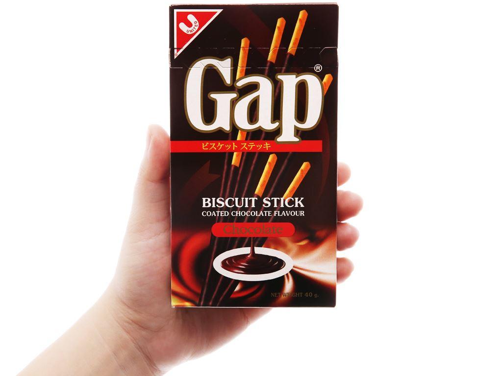 Bánh que Gap phủ kem hương socola hộp 40g 8