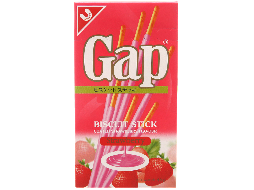 Bánh que phủ kem hương dâu Gap hộp 40g 1