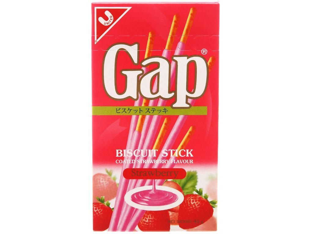 Bánh que Gap phủ kem hương dâu hộp 40g 5