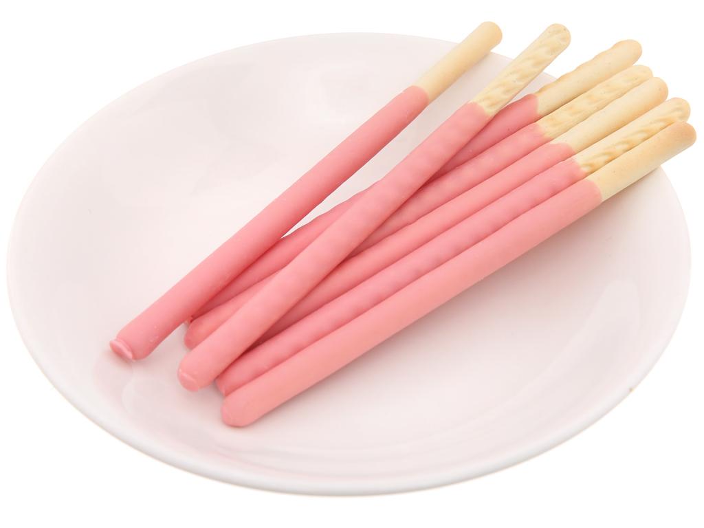 Bánh que phủ kem hương dâu Lucky Stick Meiji hộp 45g 4