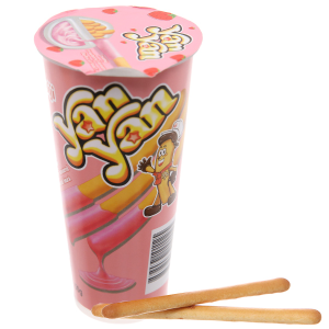 Bánh que chấm kem dâu Meiji Yan Yan 50g