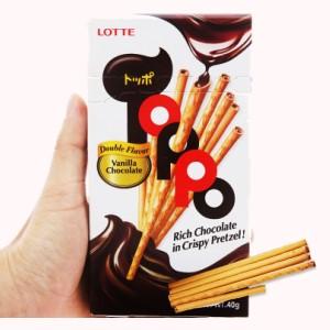 Bánh que Lotte Toppo hương vani nhân socola hộp 40g