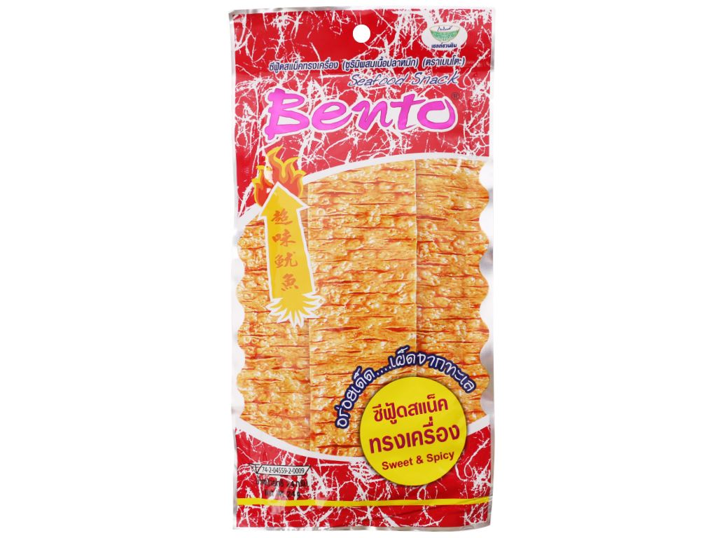 Snack mực tẩm gia vị cay ngọt Bento gói 24g 1