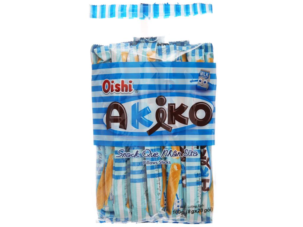 Snack que nhân sữa Oishi Akiko gói 160g 1