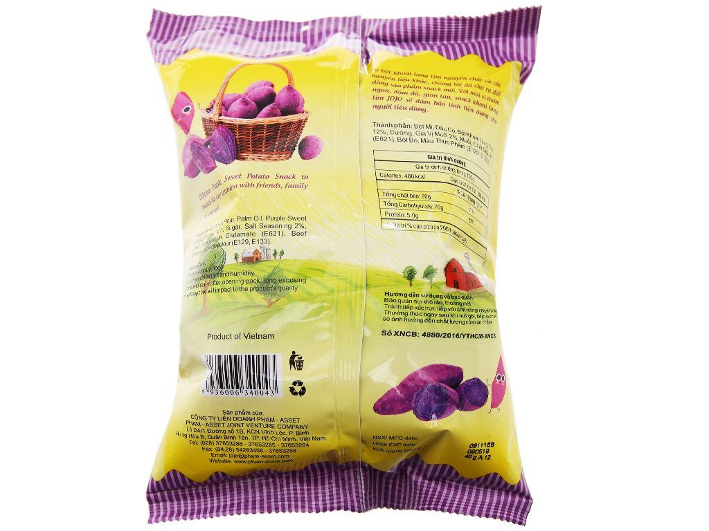 Snack khoai lang tím JoJo gói 40g 6