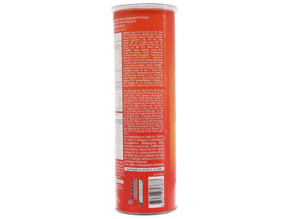 Snack khoai tây vị tôm hùm cay Lay's Stax lon 105g 2