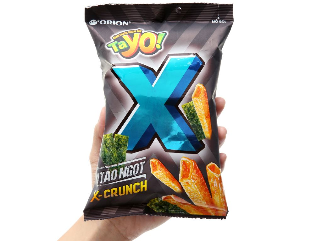 Snack khoai tây vị tảo ngọt TaYo X gói 28g 3