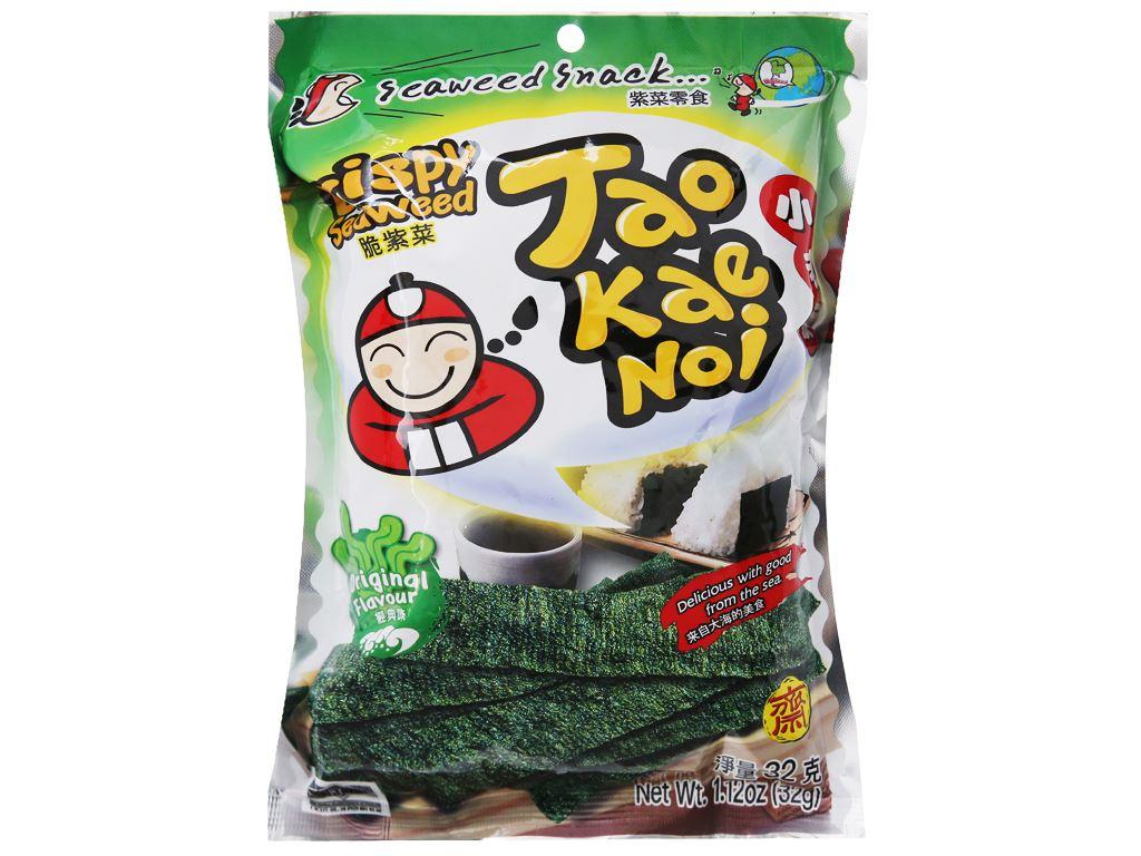 Snack rong biển giòn vị truyền thống Tao Kae Noi gói 32g 5