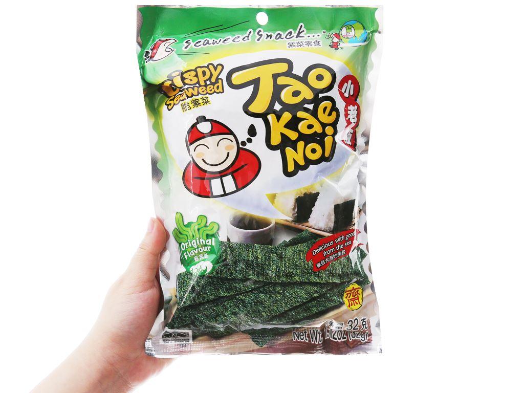 Snack rong biển giòn vị truyền thống Tao Kae Noi gói 32g 7