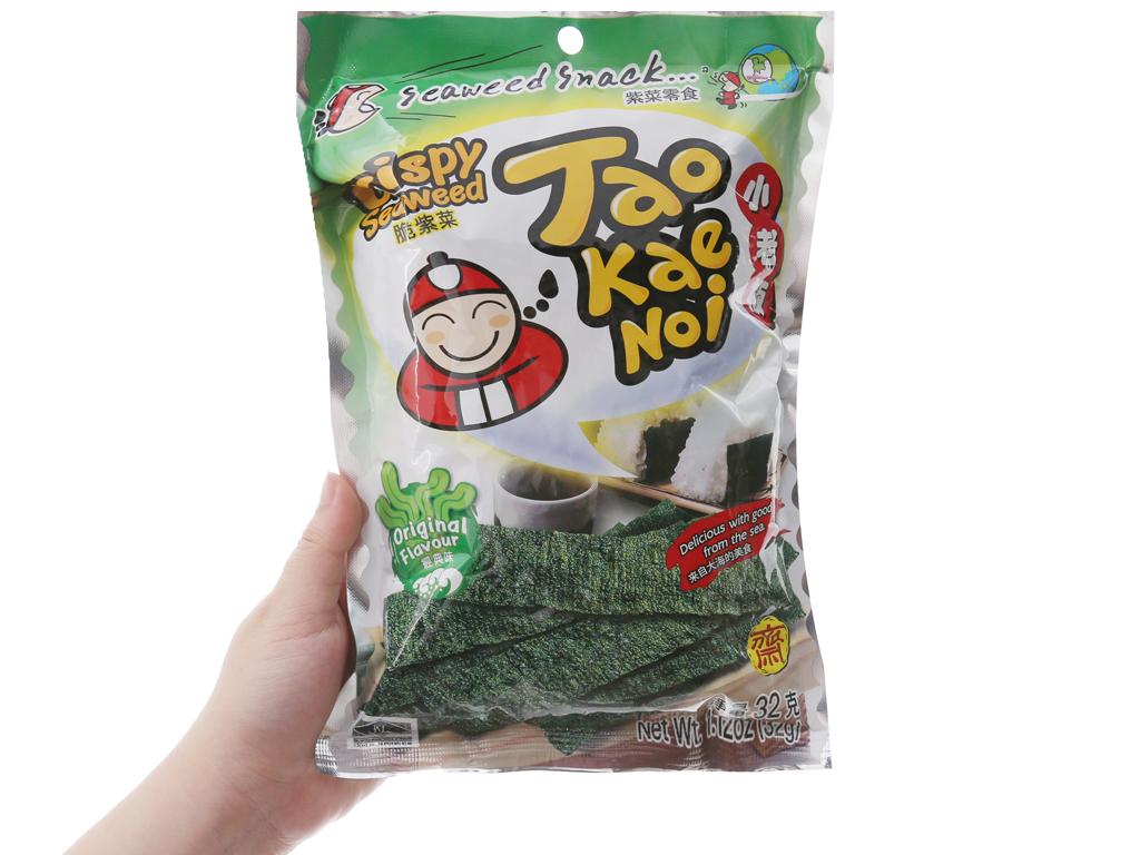 Snack rong biển giòn vị truyền thống Tao Kae Noi gói 32g 3