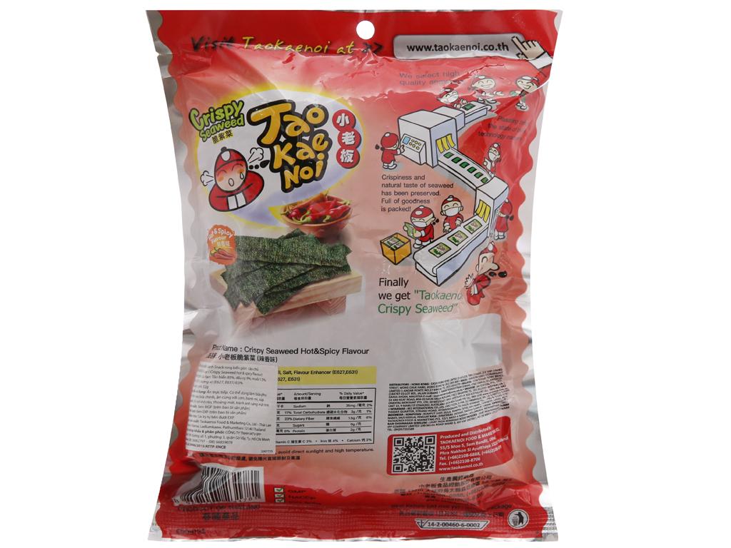Snack rong biển giòn vị cay Tao Kae Noi gói 32g 2