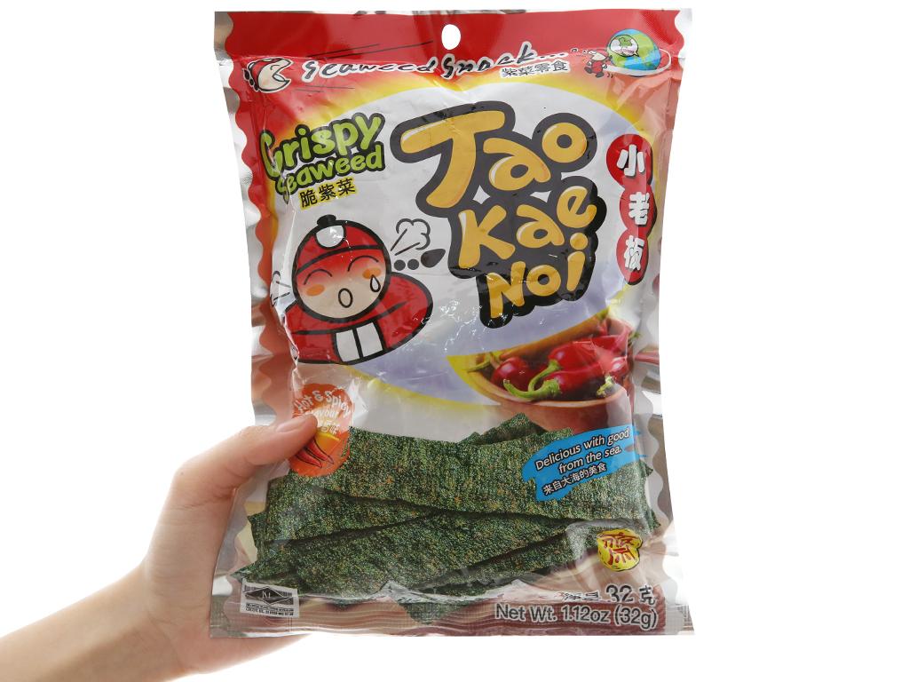 Snack rong biển giòn vị cay Tao Kae Noi gói 32g 3