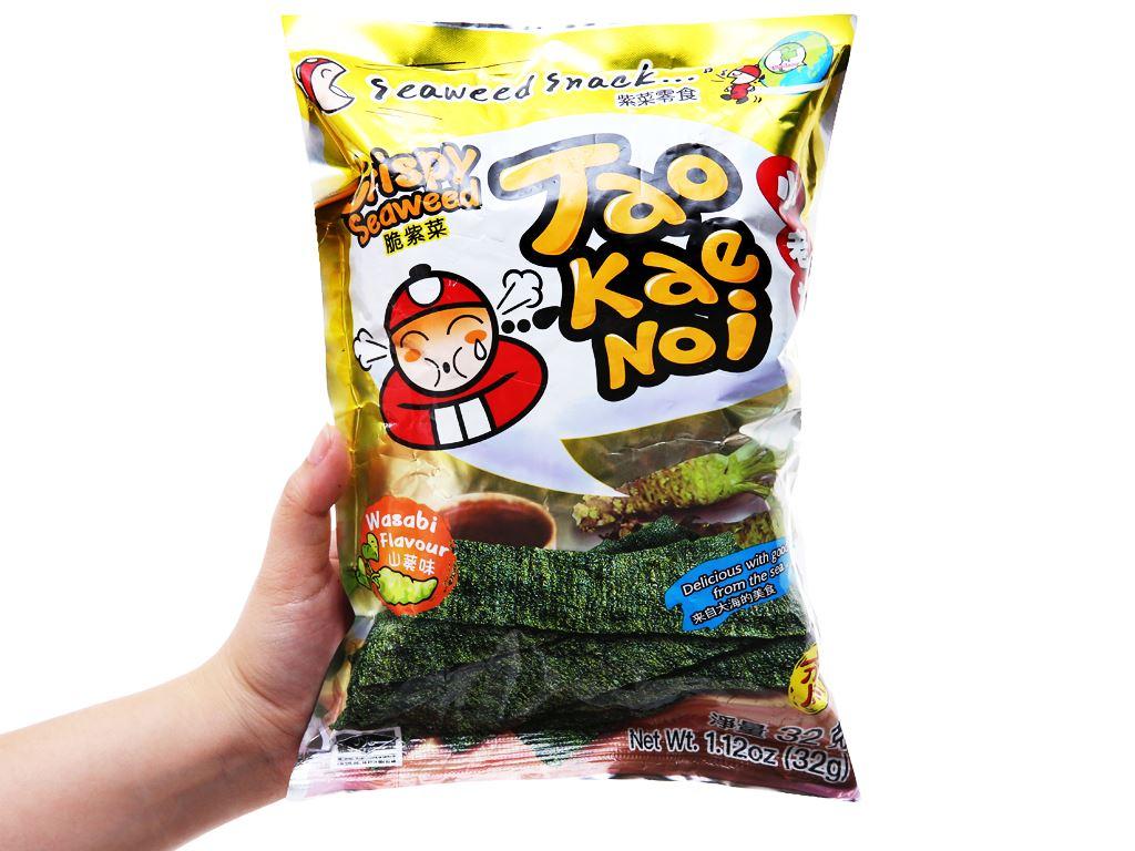 Snack rong biển giòn vị wasabi Tao Kae Noi gói 32g 7