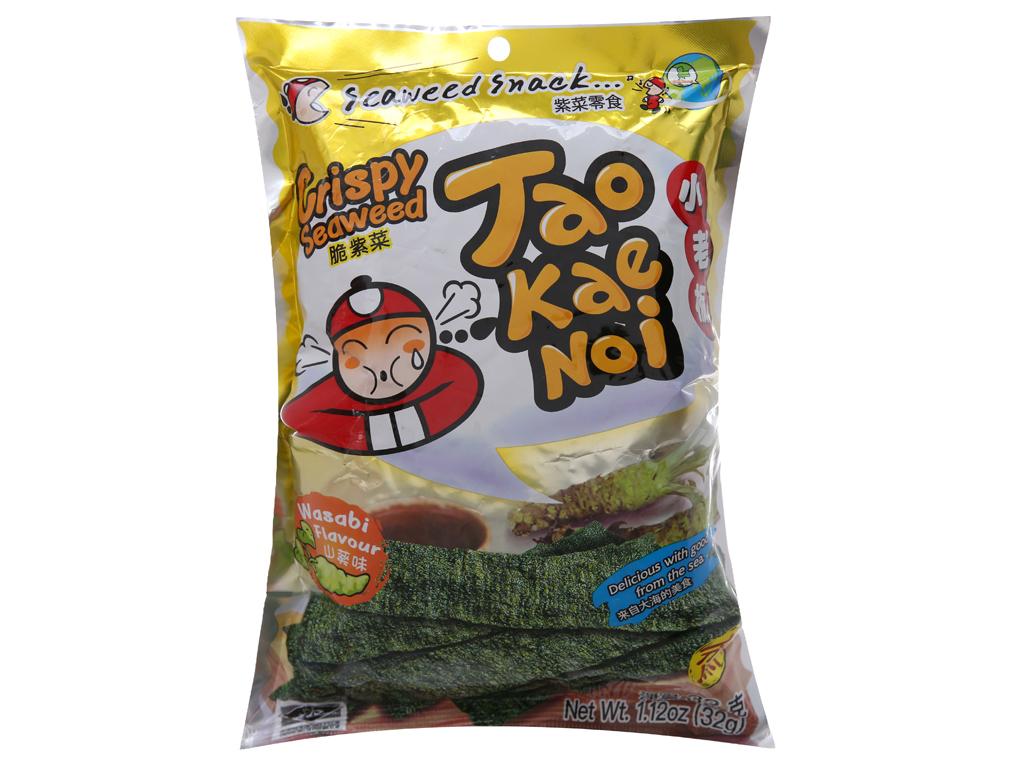 Snack rong biển giòn vị wasabi Tao Kae Noi gói 32g 1