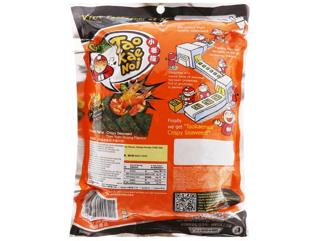 Snack rong biển giòn vị chua cay Tao Kae Noi gói 32g 6