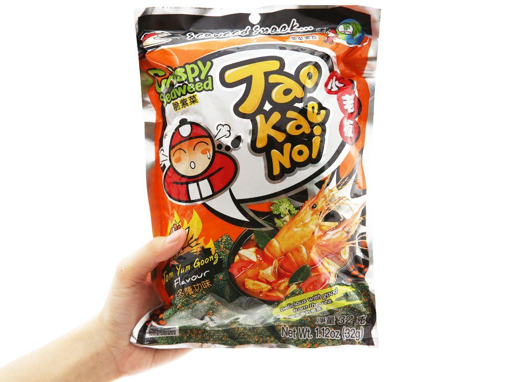 Snack rong biển giòn vị chua cay Tao Kae Noi gói 32g 7