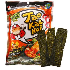 Snack rong biển giòn vị chua cay Tao Kae Noi gói 32g