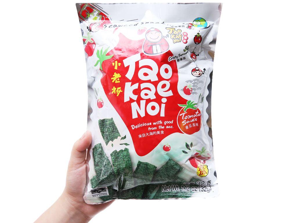 Snack rong biển giòn vị cà chua Tao Kae Noi gói 32g 7