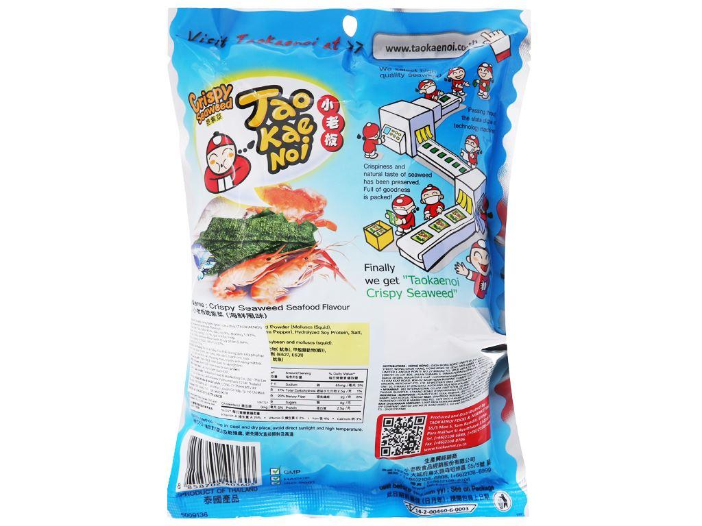 Snack rong biển giòn vị hải sản Tao Kae Noi gói 32g 2