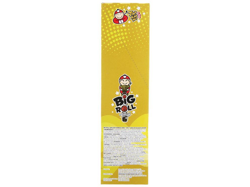 Snack rong biển nướng vị mực Tao Kae Noi Big Roll hộp 21.6g 3
