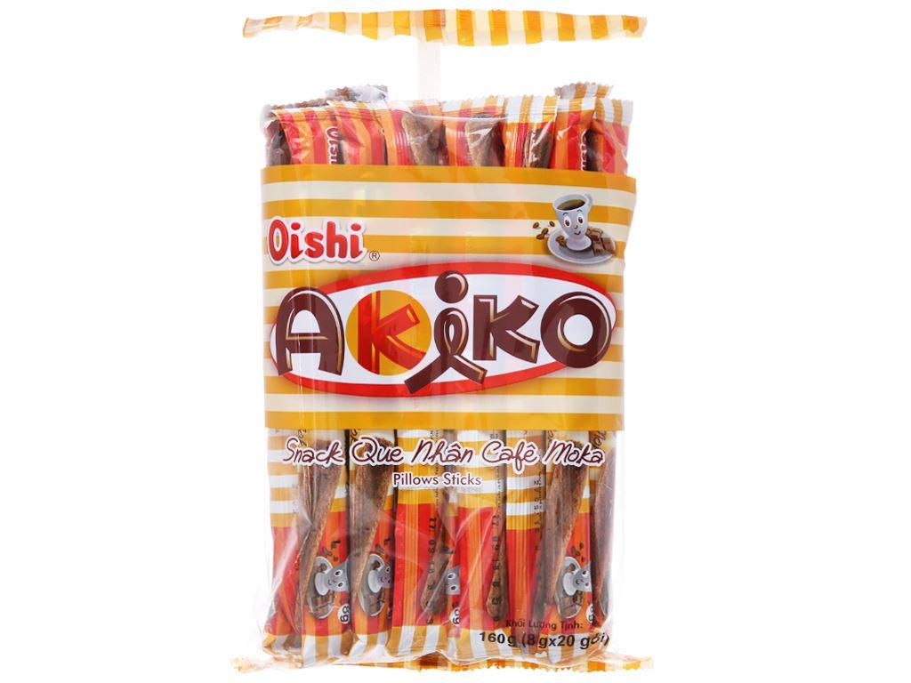 Snack que nhân cà phê moka Akiko Oishi gói 160g 1