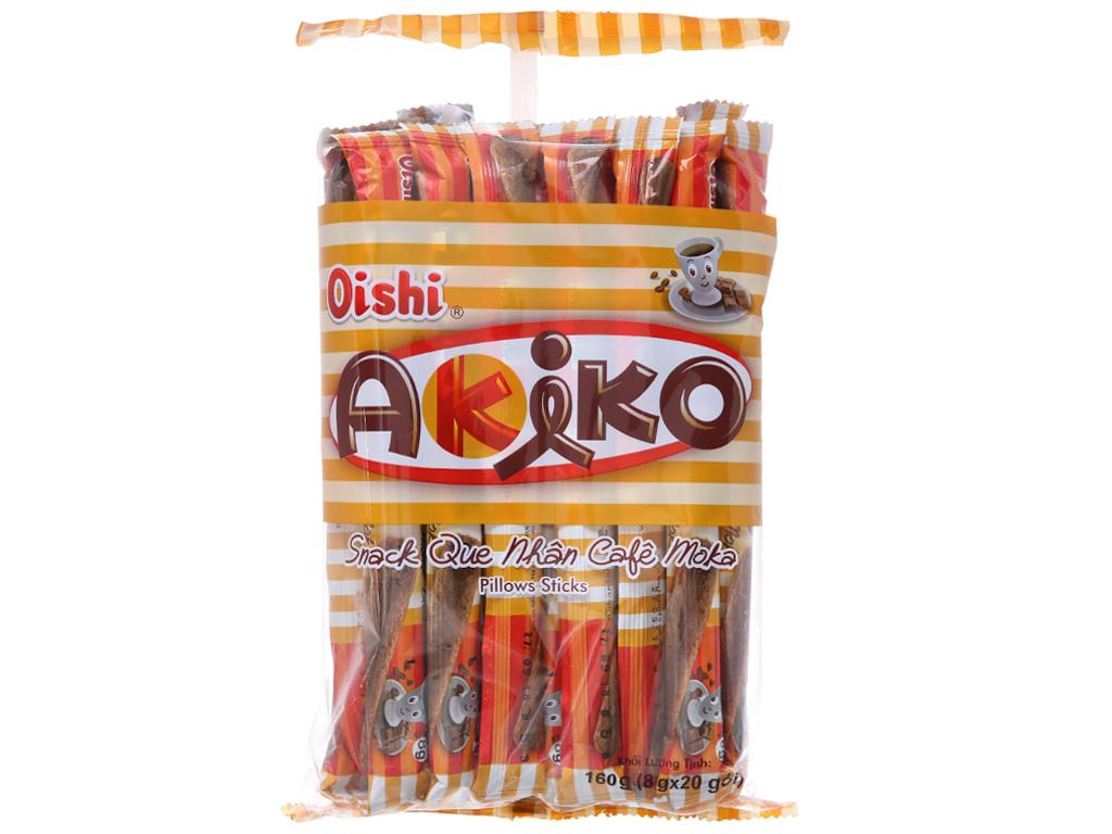 Snack que nhân cà phê moka Oishi Akiko gói 160g 1