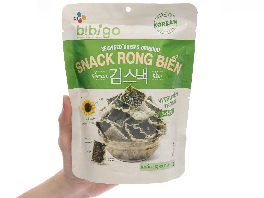 Snack rong biển vị truyền thống Bibigo gói 25g 3