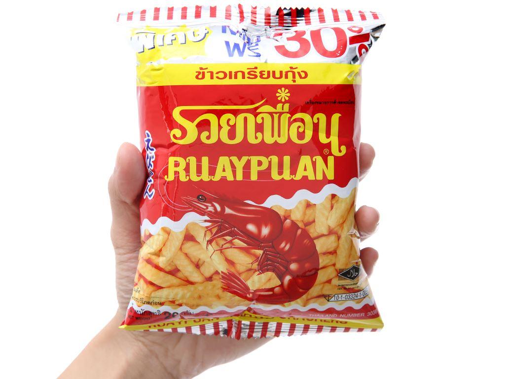 Snack tôm Ruay Puan gói 20g 3