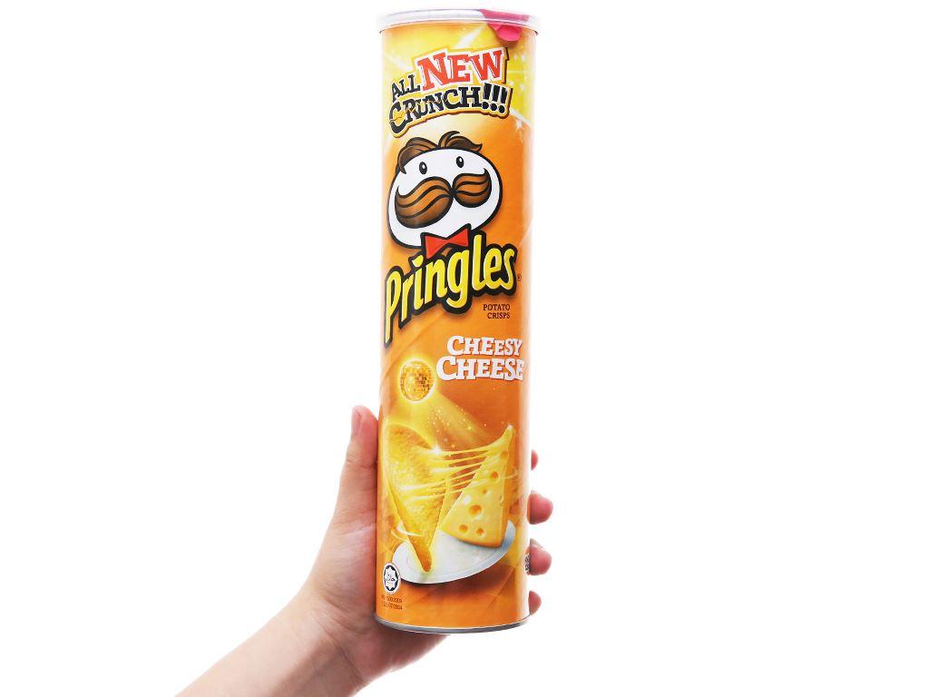 Snack khoai tây vị phô mai Pringles lon 147g 7
