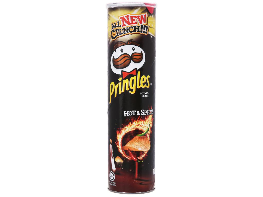 Snack khoai tây vị cay đặc biệt Pringles lon 147g 5