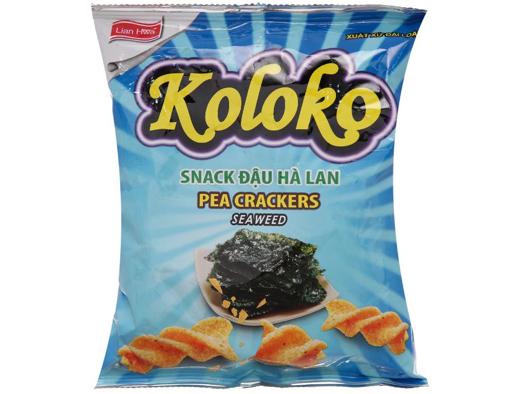 Snack đậu Hà Lan vị rong biển Koloko gói 57g 1