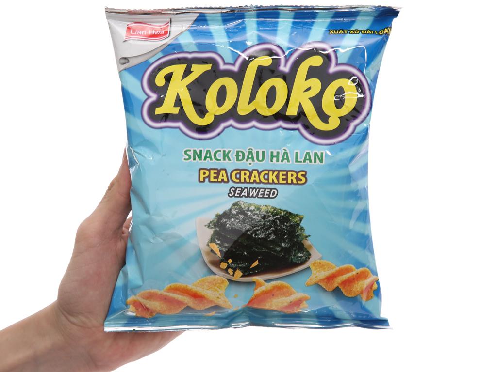Snack đậu Hà Lan vị rong biển Koloko gói 57g 3