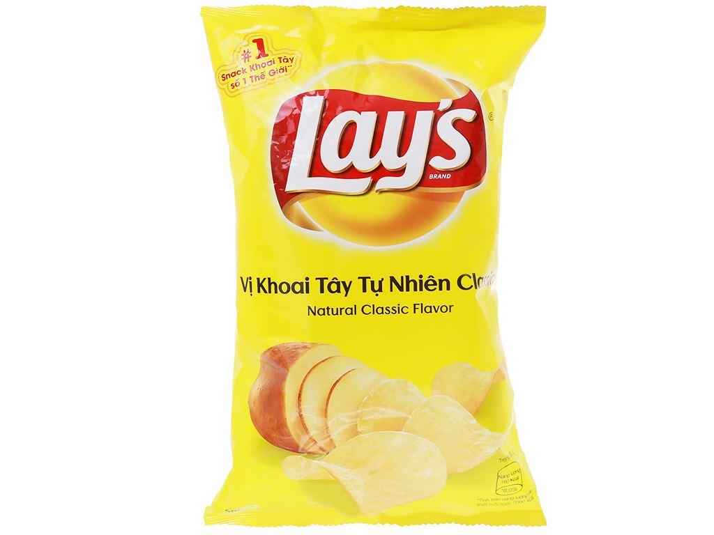 Snack khoai tây vị tự nhiên Classic Lay's gói 95g 1