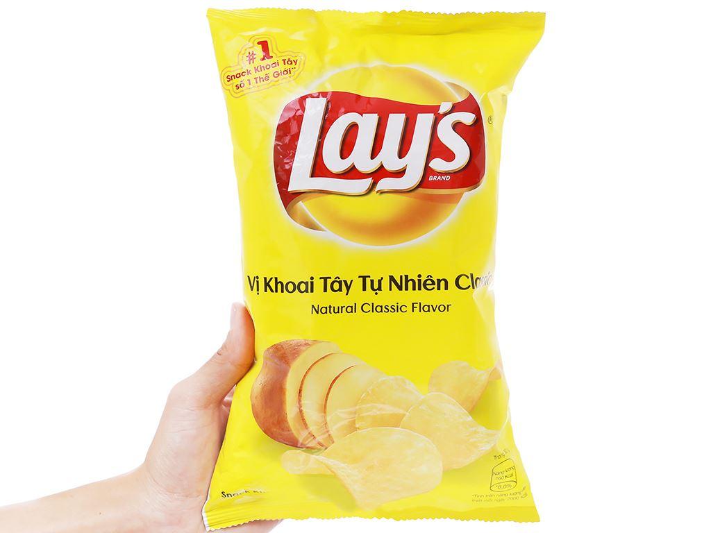 Snack khoai tây vị tự nhiên Classic Lay's gói 95g 5