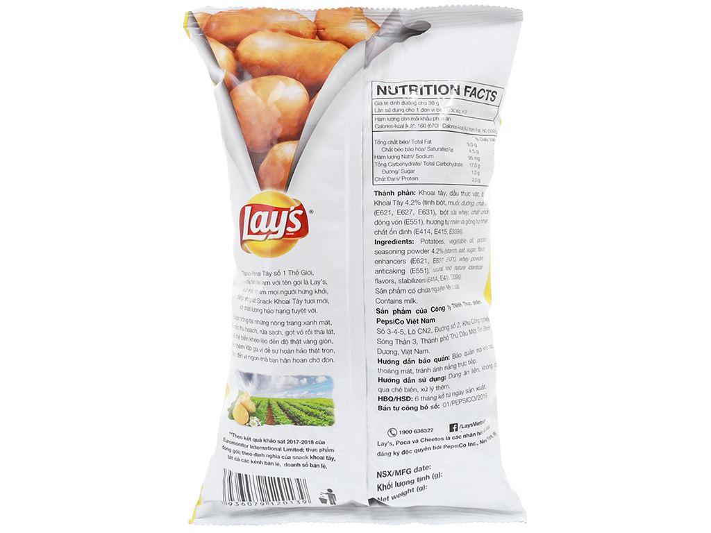 Snack khoai tây vị tự nhiên Classic Lay's gói 95g 2