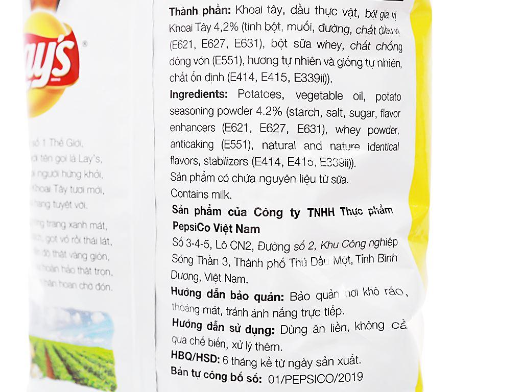 Snack khoai tây vị tự nhiên Classic Lay's gói 95g 4
