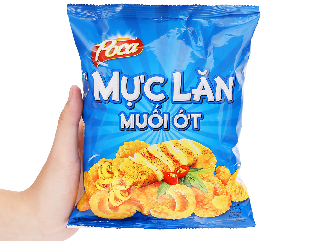 Snack mực lăn muối ớt Poca gói 37g 4